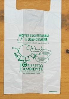 SHOPPERS Biocompostabili (UNI EN 13432) cm.30+10+10x60 (pz500) sfuse
